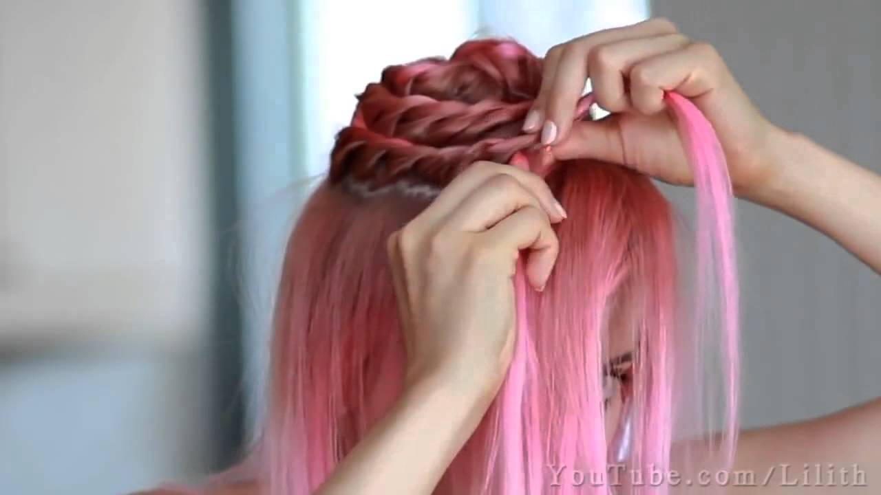 Updo Prom wedding hairstyle tutorial for medium long hair | Qtiny.com