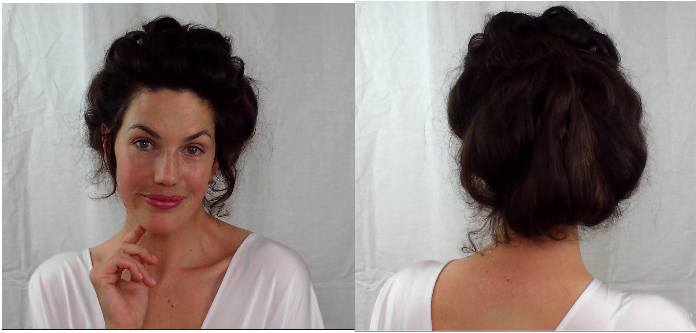 EASY Edwardian Mr Selfridge Kitty hair tutorial (gibson