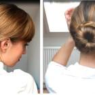 Hair tutorial: 3 Minute Updo for Medium Length Hair