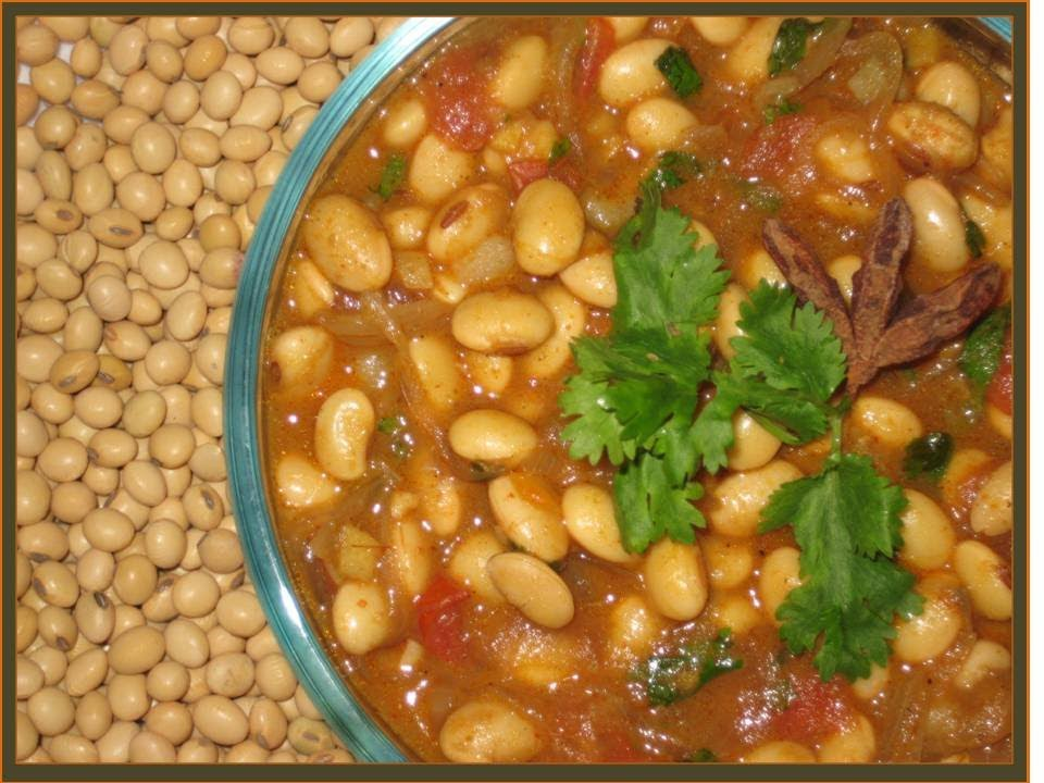 How To Make Soya Bean Curry Vegetarian Indian Food