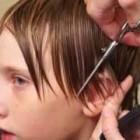 Boys Medium Length Side Swept Hair Cut Done 95% with a Razor
