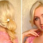 Cute everyday updo tutorial Hairstyle for long hair that cover hide your ears