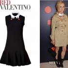 Diane Kruger's RED Valentino Jersey Dress with Swan Collar
