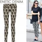 Kendall Jenner's GENETIC x Liberty Ross Metallic Mid-Rise Jacquard Skinny Jeans