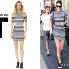 Kendall Jenner's T by Alexander Wang Rib Knit Short Sleeve Dress