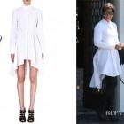 Kris Jenner's Alexander McQueen Cotton Fishtail Shirtdress