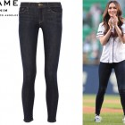Megan Fox's Frame Denim 'Le Skinny de Jeanne' Mid-Rise Jeans