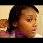 Flat twistout tutorial | Medium length Natural Hair
