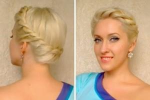 Greek goddess crown braid tutorial Twisted prom updo hairstyle Hochsteckfrisuren mit zöpfen