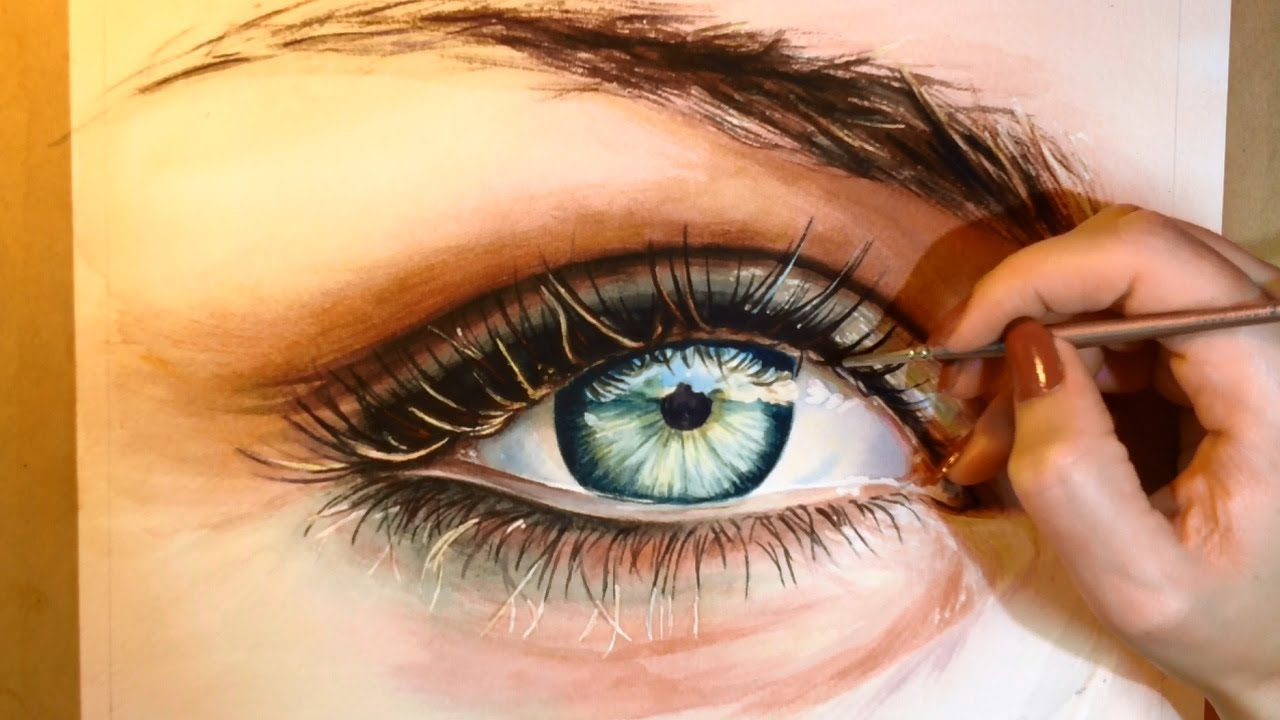 How to paint a realistic eye watercolor portrait for Portrait painting tutorial