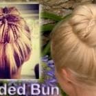 Elegant braided updo hairstyle for everyday Rolled bun for medium long hair tutorial