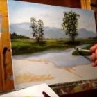 Green Meadows Demonstration – Basic Traditional Landscape Oil Painting Tutorial