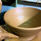 Pottery for Beginners – How to make a large bowl with hollows ep 22