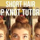 Short Medium Length Hair TOP KNOT Sock Ballerina Bun Quick Easy Hairstyle Tutorial!