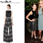Anna Kendrick's Alice + Olivia 'Lorita' Leather Cropped Top