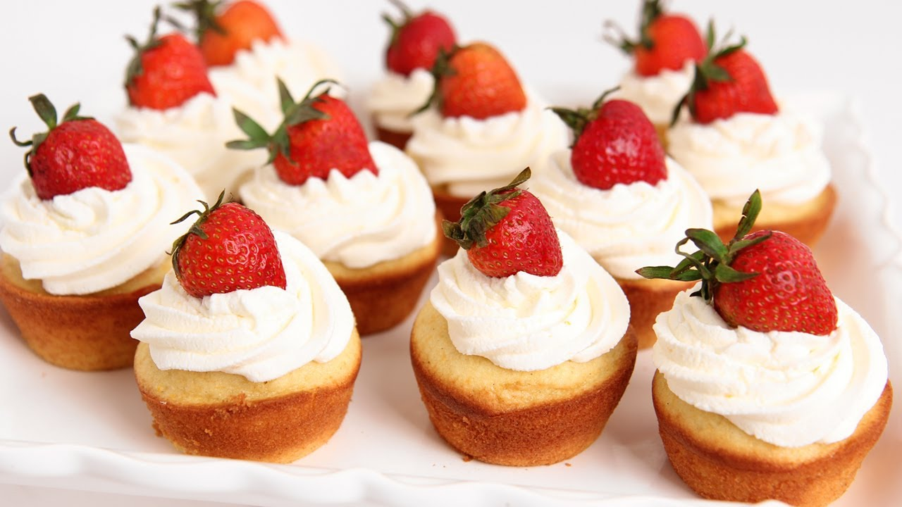 Strawberry Shortcake Cupcakes Recipe – Laura Vitale – Laura in the ...
