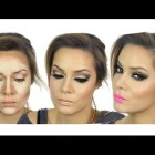 Kim Kardashian Inspired MakeUp Tutorial | Valentines Day | Highlight & Contour