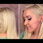 Ladder braid tutorial Everyday school hairstyle for medium long hair Alltags frisuren mit zöpfen