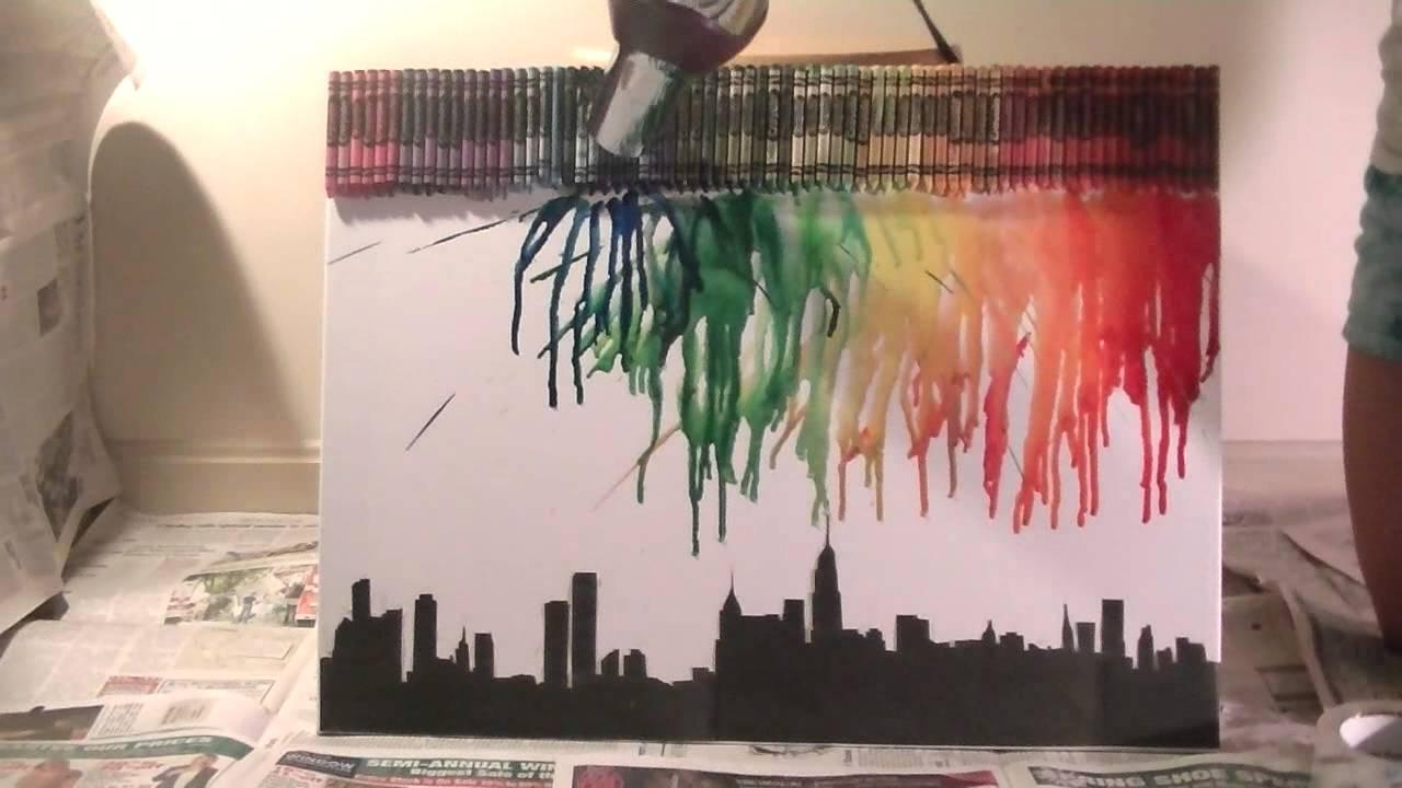 Melting Crayon Art Tutorial Qtiny Com