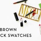 Rosy-Brown Lipstick Swatches | Bite Beauty, Kat Von D, Red Apple Lipstick