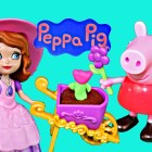 Sofia The First vs Peppa Pig Play Doh Gardening Together Garden Adventure Zoe Zebra DisneyCarToys