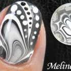 WATER MARBLE Nail Art Tutorial –  Black & White Design How to Basics Techniques 水染彩繪美甲