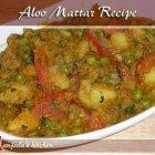Aloo Mattar (Potatoes and Peas) Recipe by Manjula, Indian Vegetarian Cuisine