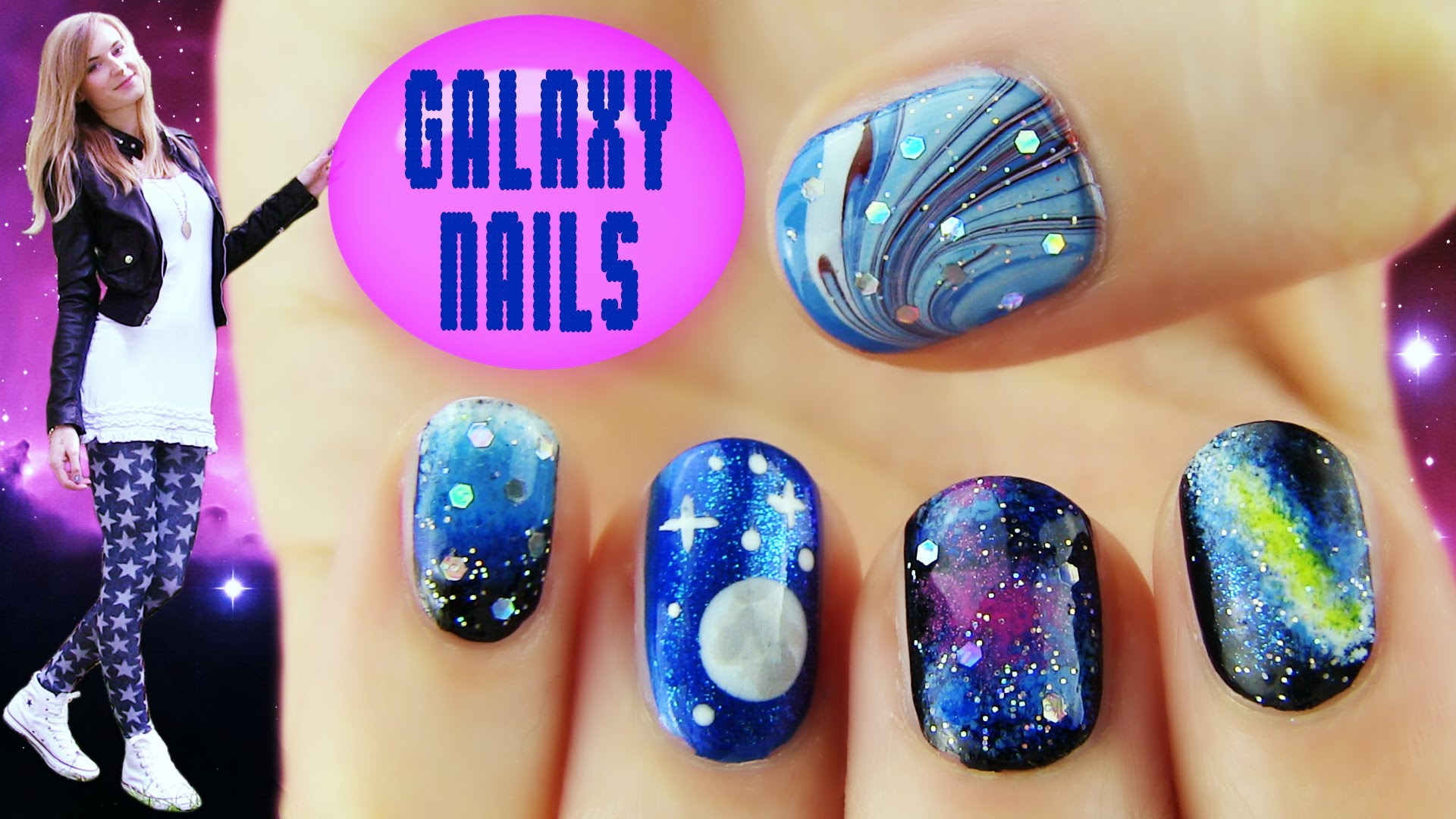 Galaxy Nails! 5 Galaxy Nail Art Designs amp; Ideas  Qtiny.com