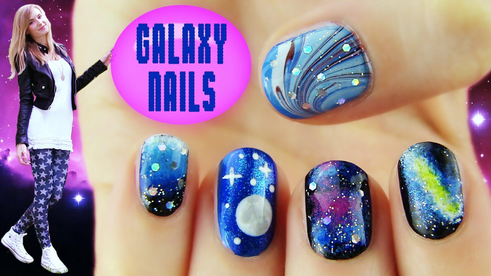 Milky Way Galaxy Nails — Crafthubs
