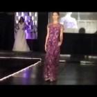 Purple Lace Evening Dress Runway Fashion Show – Fall 2013 Eveningwear Collection By Elsa Originals