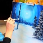 Paint with Maz – Silent Night – Full Step by Step Tutorial