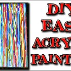 Rainbow Rain Acrylic Painting for Beginners