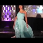 Blue Greek Style Dress Runway Fashion Show – Fall 2013 Eveningwear Collection By Elsa Originals