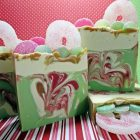 Dance Of The Candy Canes Handmade Cold process Soap Making Video