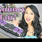 EASY Bouncy Curls with Hot Rollers – itsjudytime hair tutorial