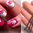 ♥ HELLO KITTY Inspired Nails… Using A Bobby Pin?! Easy Cute Nail Art For Beginners!