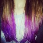 How To Dip Dye Hair | Ombre | Purple Hair Tutorial (Long/Medium Hair)