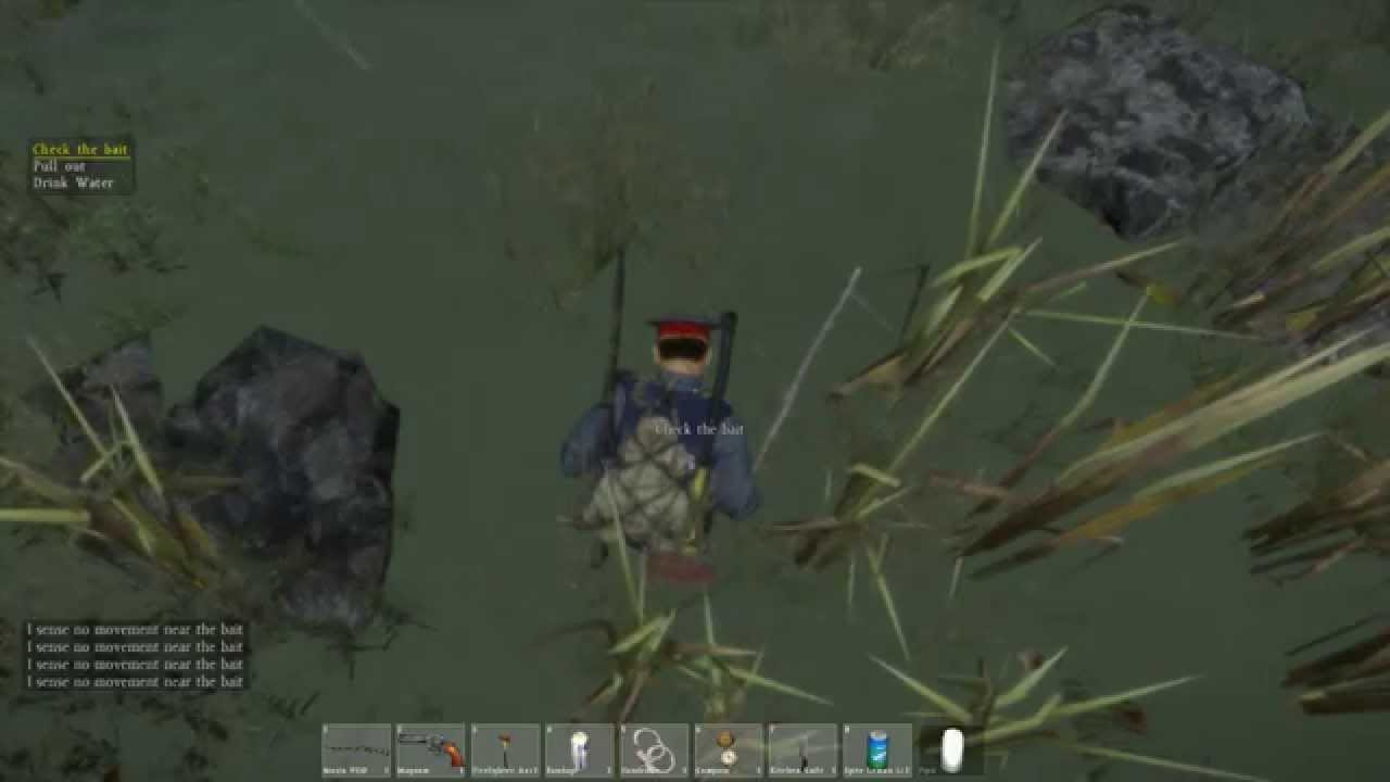 How to make fishing rod and how to fishing in dayz for How to make fishing rod