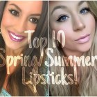 My Top 10 FAVORITE Spring/Summer Drugstore Lipsticks! [Collab]