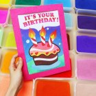 Sand Art – How To Do Sand Art Birthday Card With Colourful Toning