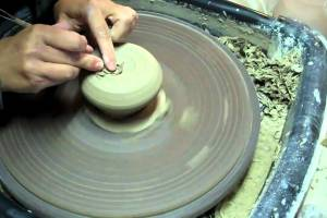 Cup 80 – Making a Double Walled Pottery Cup – Trimming – Carving – Adding Handle