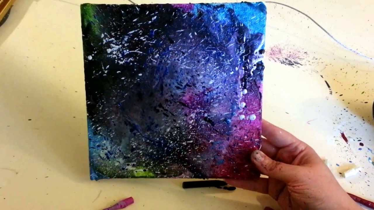 Hot Wax Painting On Canvas