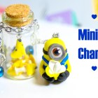 DIY: Minion Polymer Clay Charm Tutorial + Miniature Bottle♥