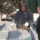 Early Morning Start – 2013 BP Ice Art Championship Multi-block event
