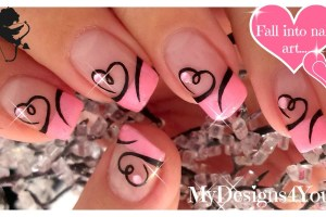 Easy Valentine's Day Nail Art | Cute Heart French Tip Nails ♥ Дизайн Ногтей Ко Дню Влюбленных
