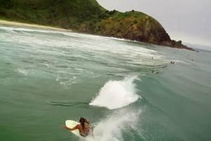 Surfing Aerial Footage Byron Bay