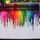 Crayon Melting & Splatter Paint.