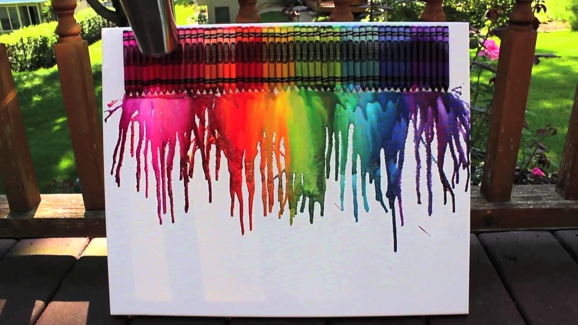 Crayon Melting amp Splatter Paint Qtinycom