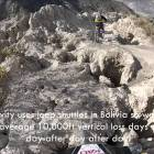 """""""Mind Your Step"""" Extremely Steep and Technical Downhill Mountain Biking Trail in Bolivia."""