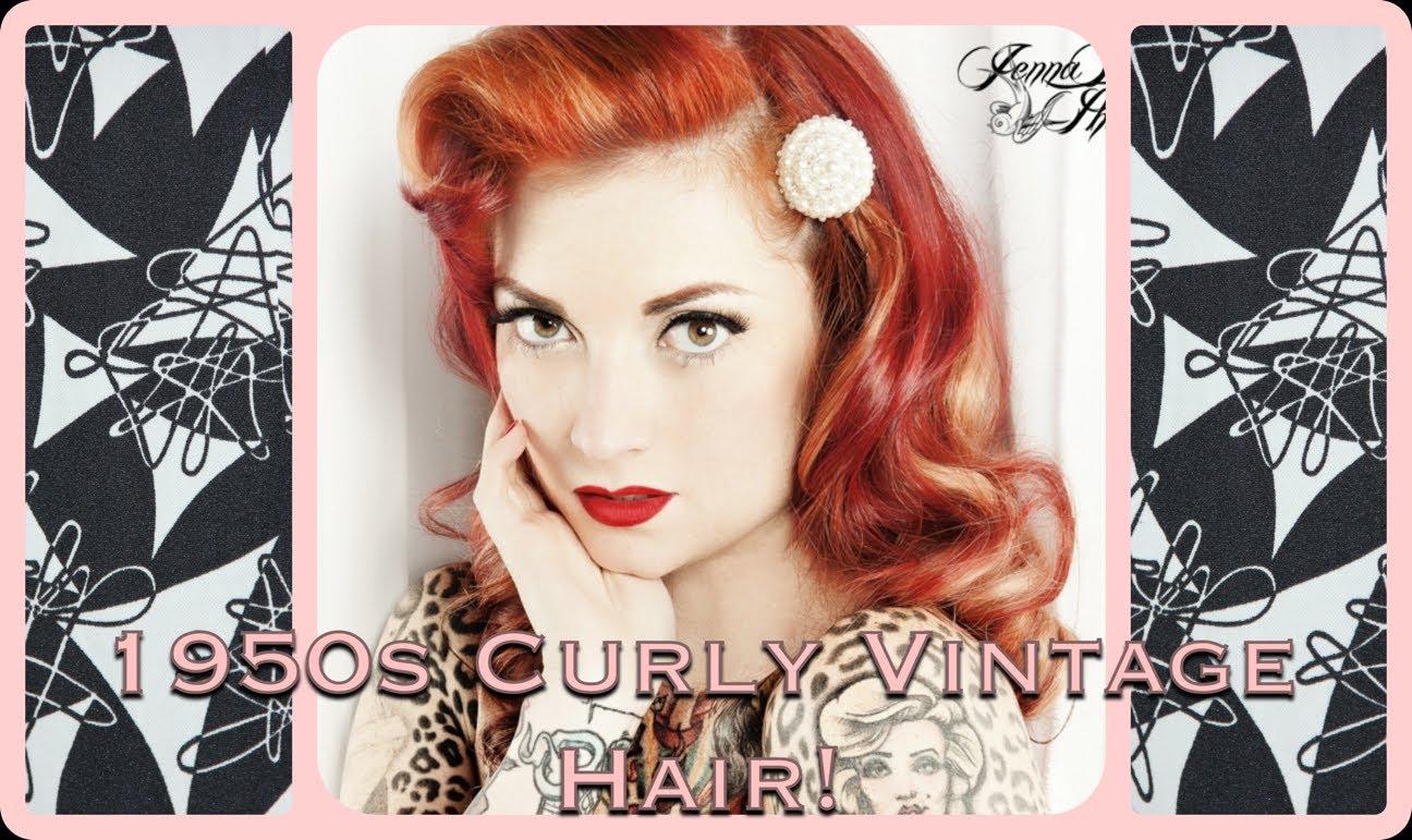 vintage 1950's curly hair tutorial ala marilyn monroe by cherry
